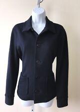 Ralph Lauren Navy Nautical Jacket Anchor Button Fleece Lined Blazer Size Medium