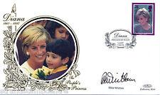 1998-DIANA BENHAM piccola SILK bs10a-Cardiff H/S-Firmato Mike Whitlam
