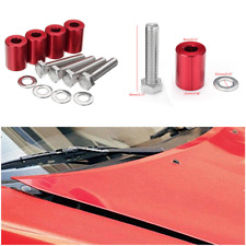 "Car Billet Aluminum Vent Hood Spacer Riser Set Kits 1"" Space Fit Engine Swaps"