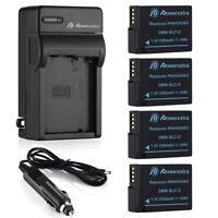 1500mAh DMW-BLC12 Battery Charger For Panasonic Lumix DMC-FZ200 DMC-FZ1000 Cam