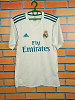 Real Madrid Jersey 2017 2018 Home SMALL Shirt Mens Football Adidas AZ8059