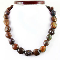 787.50 CTS NATURAL HAND MADE JASPER STRAND FACETED UNTREATED BEADS NECKLACE