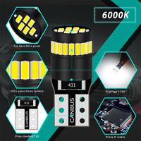 2X T10 501 194 W5W SMD 24 LED Car CANBUS Error Free Wedge Light Bulb White j