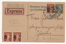 Switzerland EXPRESS Cover Overprinted Stamps