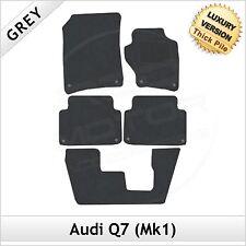 Audi Q7 Mk1 7-Seater 2006-2015 Tailored LUXURY 1300g Carpet Car Floor Mats GREY