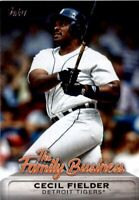 2019 Topps Update The Family Business #FB9 Cecil Fielder