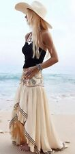 Free People Embroidered Beaded Rises In The East Skirt Hi Low Maxi 4 NWT
