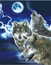 Wild Wolf Lenticular 3D Picture Animal Poster Painting Home Decor Wall Art Decor