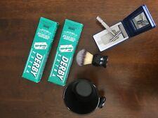 Shaving Set/Gift Set, Double Edge Razor, Brush, Porcelain Mug+200pcs DerbyExtra
