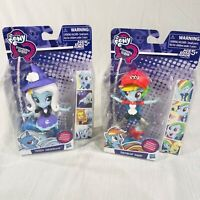 Lot of 2 RAINBOW DASH & TRIXIE LULAMOON My Little Pony EQUESTRIA GIRLS HASBRO