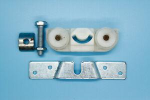 Helm Rollapparat für Schrankschiebetüren Kunststoff weiß Doppelpaarig alte Ausf.