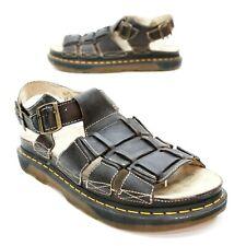 Dr. Martens Men's 13 (12 UK) Fisherman Gladiator Brown Buckle Open-toe Sandals