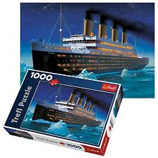 Trefl 1000 Piece Adult Large Titanic Ship Boat Voyage Docks Floor Jigsaw Puzzle