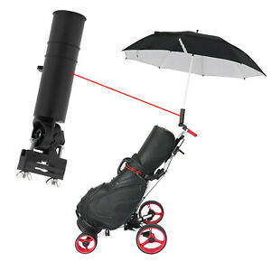 Black Adjustable Golf Umbrella Holder Cart Accessory Plastic Fit for Trolley Car