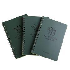 Impermeable Notebook Bloc de notas espiral Nota Libro Memo al aire libre todo el tiempo 3 un. 100pg