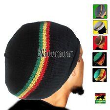 Rasta Cap Dread Tam Hats Beret Bonet Caps Africa Crown Reggae Marley Jamaica M/L