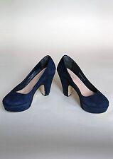 Carvela Kurt Geiger navy suede shoes, size UK 5 or 38