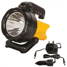 ACTIVE LED Rechargeable Spotlight Torch 150 Lumens 400M Beam AC/DC Car Adapter