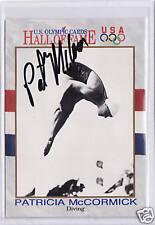RARE 1991 OLYMPIC PAT MCCORMICK AUTOGRAPH CARD ~ DIVING