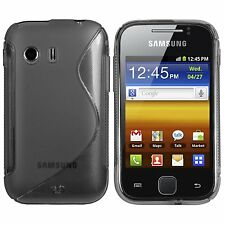 SAMSUNG S5360 Galaxy Y - Housse Etui Silicone souple noir
