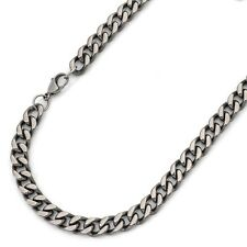 "24"" Men's Titanium Polished Curb Chain Link - 24 inch X 8mm - 24TMCH265-TY0"