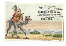 Old Trade Card Phil Michael Fremont IN Stoves Tinware Paints Revolvers Hardware