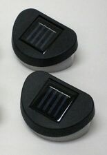 2- Pack Outdoor Solar Power 2 LED Wall Mount Garden Fence Lights - free shipping