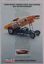 1971 Monogram~Don Prudhomme Snake Hot Wheel~Mongoose Model Coca~Cola Car Kit Ad