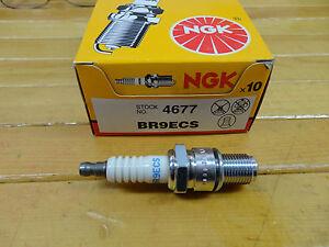 NGK BR9ECS NGK PART #4677 SKI DOO YAMAHA SPARK PLUGS  NEW BOX OF10