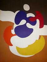 Daniel Pandini Lithographie originale signée 1970 Abstraction Art Abstrait