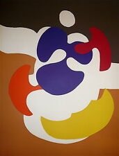 Daniel Pandini Lithographie originale signée 1970 Abstraction Art Abstrait