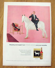 1957 White Horse Whisky Whiskey Ad Stepping Out Tonight?
