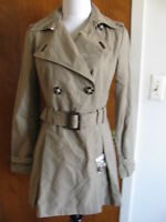 Laundry By Shelli Segal women's oatmeal stylish lined coat size Small NWT