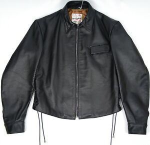RRP £900 Lewis Leathers OUTLET MENS JACKET Sprint Shirt Black Horse 42