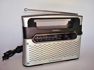 WORKING Radio Shack 12-889 Art Deco Shape ANALOG AM/FM/WX Radio