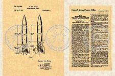REDSTONE ROCKET/Missle PATENT - Von Braun - 1959 #852