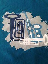Arte Narua Carnival Brazil T Shirt Tee Trombone Saxophone Tuba Turquoise Adult M