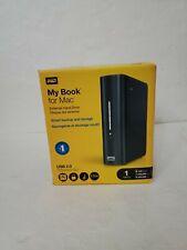 New Western Digital WD My Book 1 TB 1TB External Hard Drive for MAC USB 2.0