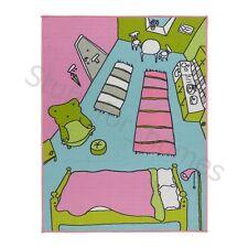 IKEA RUMMET Childrens Rug Low Pile Kids Multicolour Mat Runner Carpet