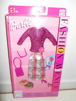 Barbie Fashion Avenue PURSE ICON 2002 25702 Purple Sparkle Top Satin Skirt