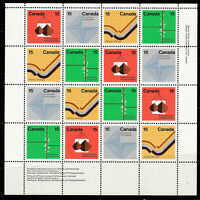 CANADA MNH full Sheet - 4 sets, Geology, Geography...