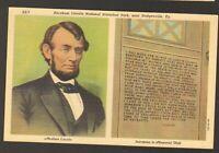 Unused Postcard Abraham Lincoln National Historical Park near Hodgenville KY