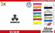 Dominator 105 x 106 mm Autocollant, Sticker, Décalque, Autocollant, Étiquette Festival