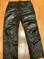Men's High Quality Soft Leather Jeans Pants Poly Silk Lining USA Made