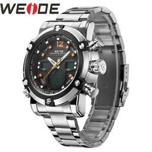 WEIDE Watch Men Relogio Masculino Watch Date Alarm Back Light Time Zone Quartz R