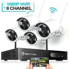 Wifi kit vidéo surveillance caméra sécurité extérieur système complet FHD 1080P