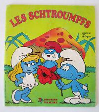 """Album panini """" les SCHTROUMPFS """" peyo 1982  collé 126 vignettes"""