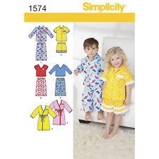 Simplicity SEWING PATTERN 1574 Toddlers Robe & Pyjama Pants,Shorts,Shirt,Top