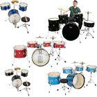 "New Glarry 13"" Kid Drum Set 16""  22"" 5-Piece Complete  Adult Drum Set Kit Black"