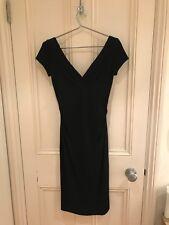 Diane von Furstenberg Womens Little Black Dress LBD 100% Wool UK Size 8